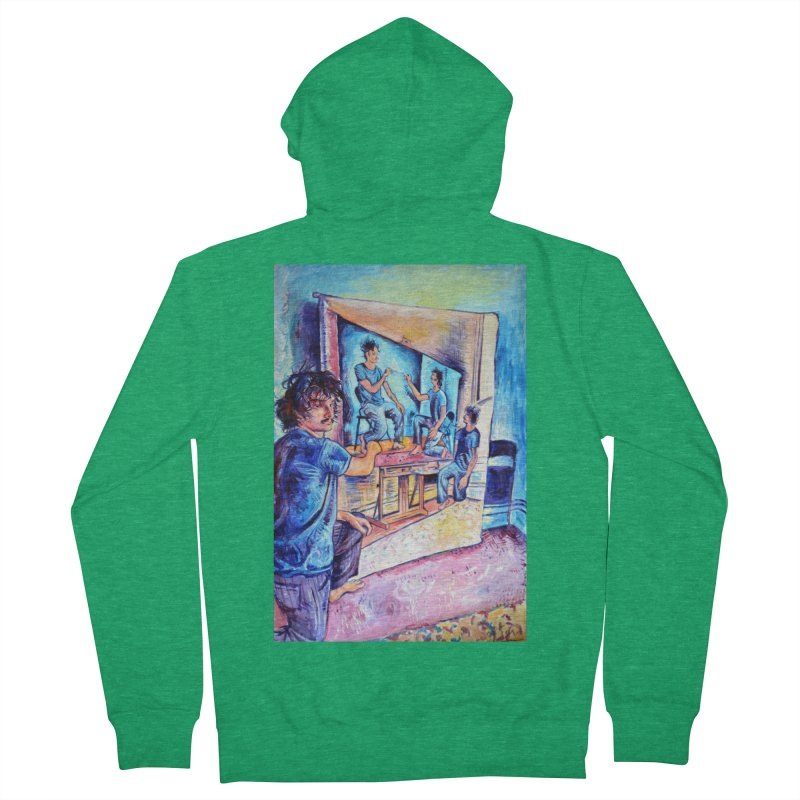 "selfportraitception Men's Zip-Up Hoody by Art Prints by Seamus Wray available under ""Home"""