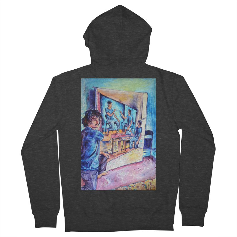 """selfportraitception Men's Zip-Up Hoody by Art Prints by Seamus Wray available under """"Home"""""""