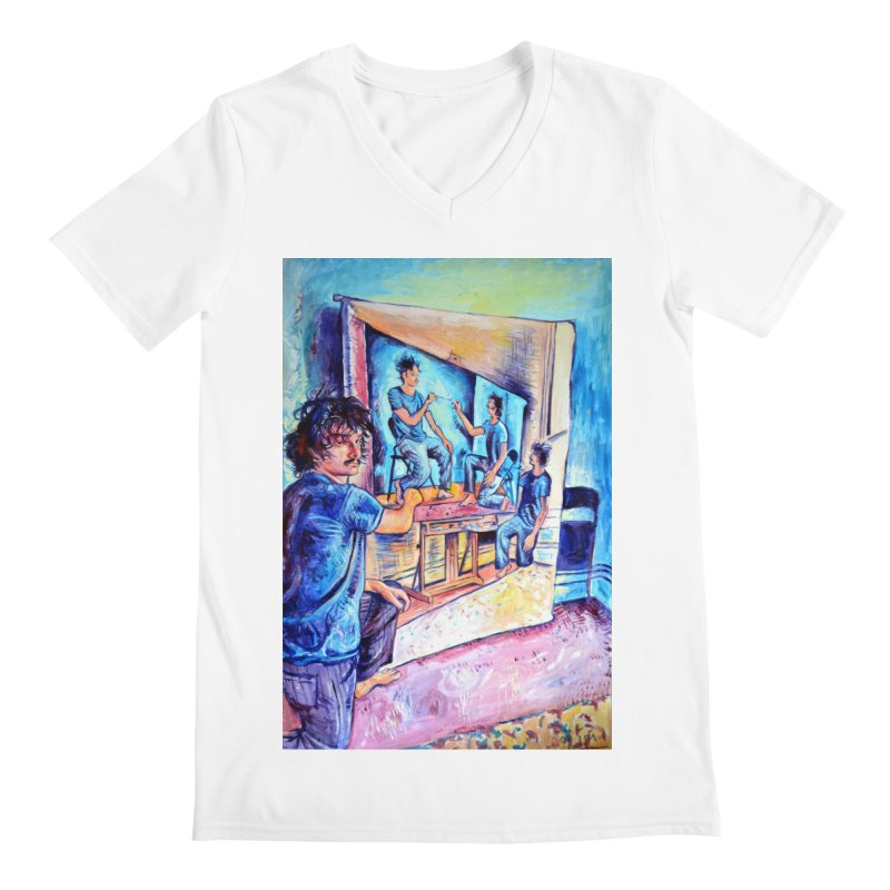 """selfportraitception Men's V-Neck by Art Prints by Seamus Wray available under """"Home"""""""