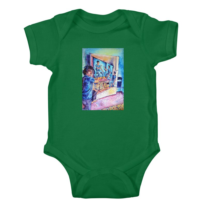 """selfportraitception Kids Baby Bodysuit by Art Prints by Seamus Wray available under """"Home"""""""