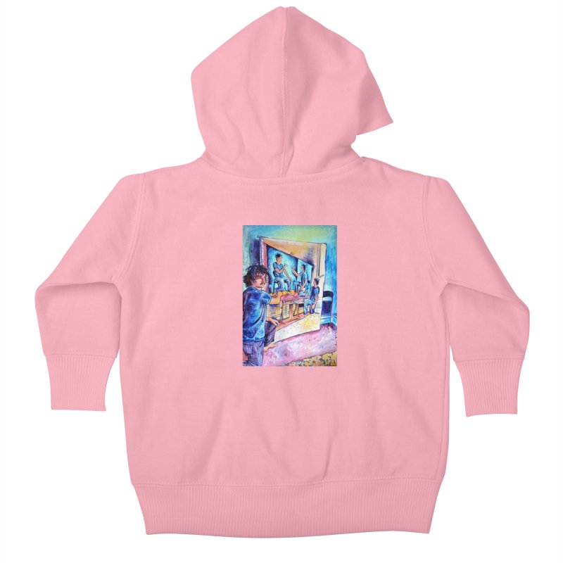 """selfportraitception Kids Baby Zip-Up Hoody by Art Prints by Seamus Wray available under """"Home"""""""