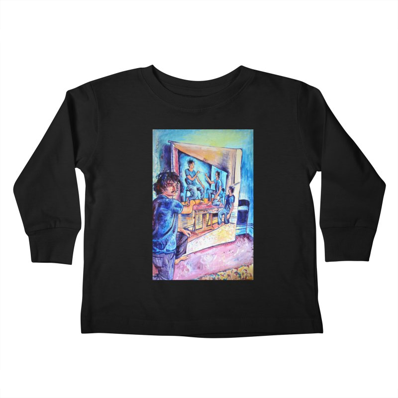 """selfportraitception Kids Toddler Longsleeve T-Shirt by Art Prints by Seamus Wray available under """"Home"""""""