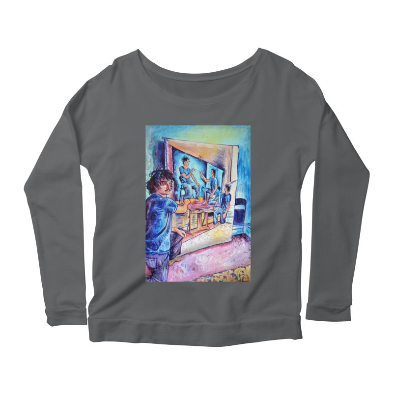 """selfportraitception Women's Longsleeve T-Shirt by Art Prints by Seamus Wray available under """"Home"""""""