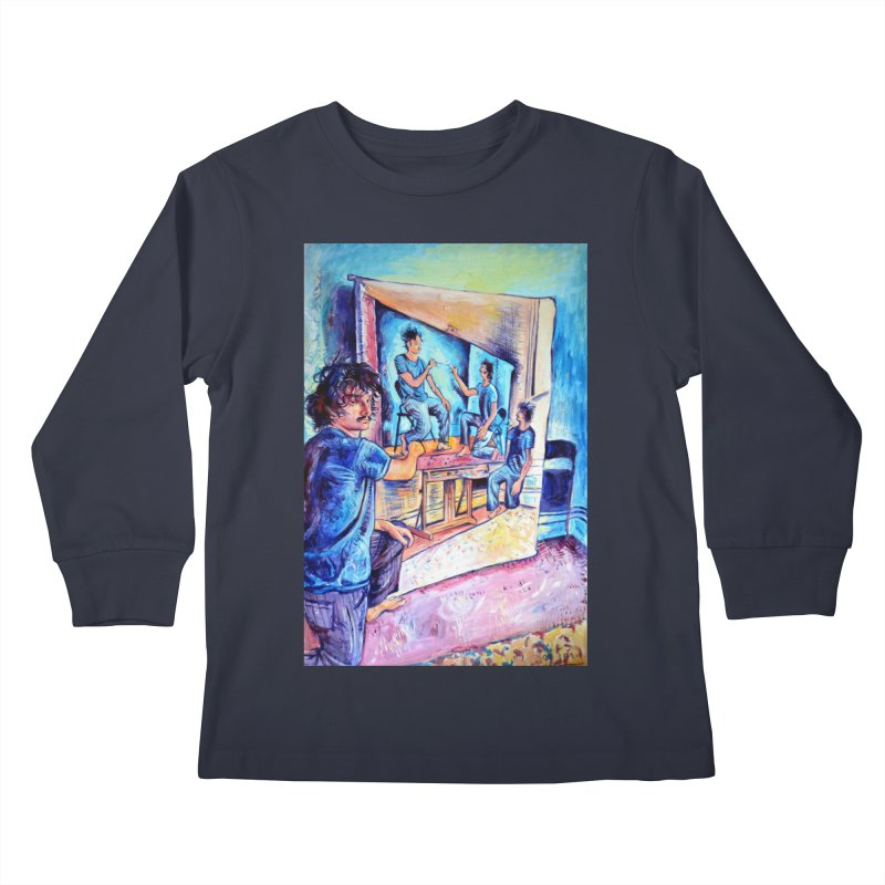 """selfportraitception Kids Longsleeve T-Shirt by Art Prints by Seamus Wray available under """"Home"""""""