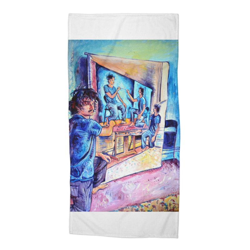 """selfportraitception Accessories Beach Towel by Art Prints by Seamus Wray available under """"Home"""""""