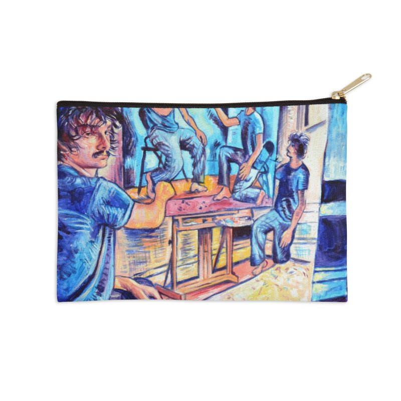 """selfportraitception Accessories Zip Pouch by Art Prints by Seamus Wray available under """"Home"""""""
