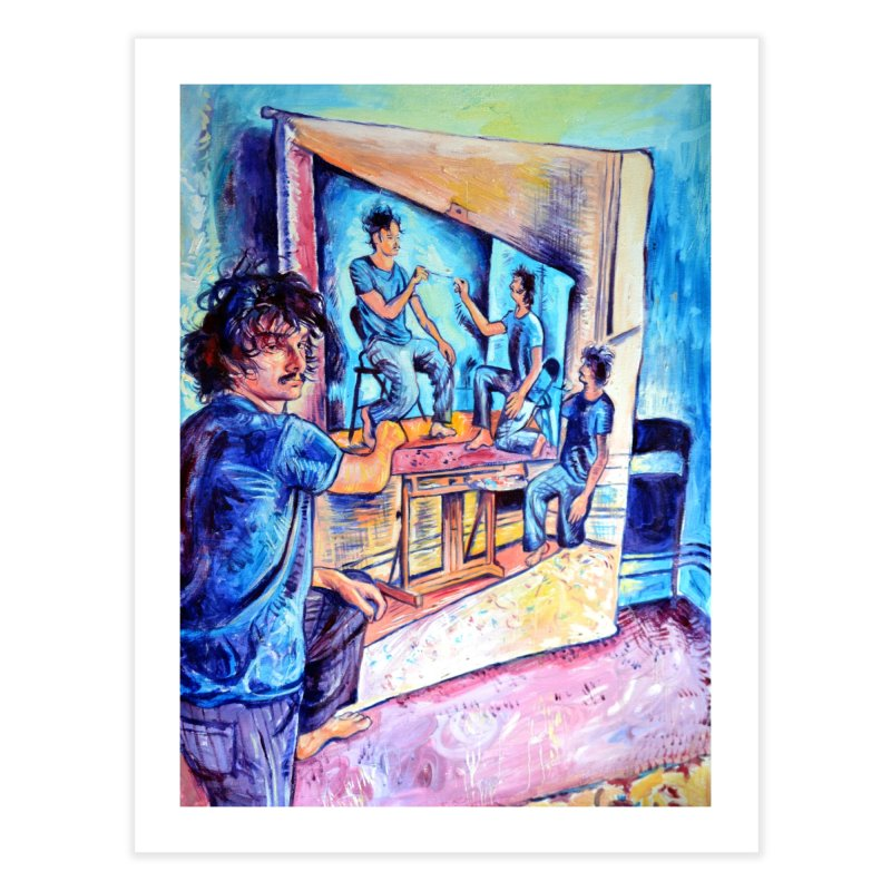 """selfportraitception Home Fine Art Print by Art Prints by Seama available under """"Home"""""""