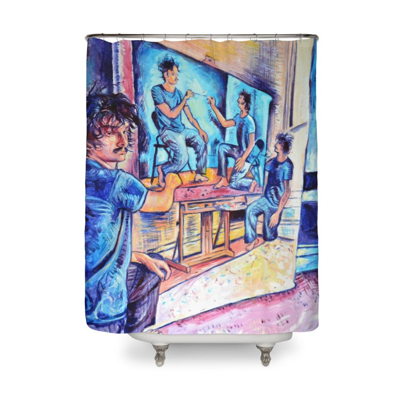 """selfportraitception Home Shower Curtain by Art Prints by Seamus Wray available under """"Home"""""""