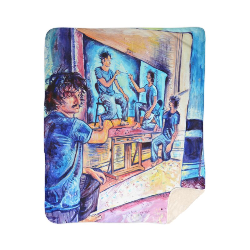 """selfportraitception Home Blanket by Art Prints by Seamus Wray available under """"Home"""""""