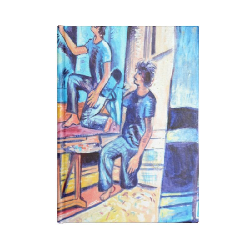 """selfportraitception Accessories Notebook by Art Prints by Seamus Wray available under """"Home"""""""