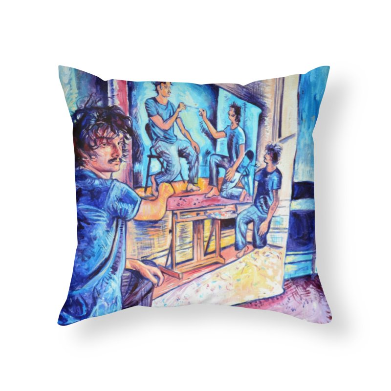 """selfportraitception Home Throw Pillow by Art Prints by Seamus Wray available under """"Home"""""""