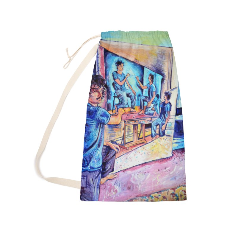 """selfportraitception Accessories Bag by Art Prints by Seamus Wray available under """"Home"""""""