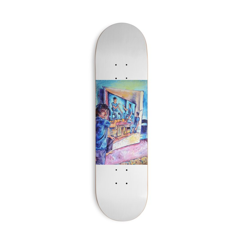 """selfportraitception Accessories Skateboard by Art Prints by Seamus Wray available under """"Home"""""""