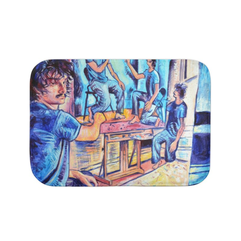 """selfportraitception Home Bath Mat by Art Prints by Seamus Wray available under """"Home"""""""