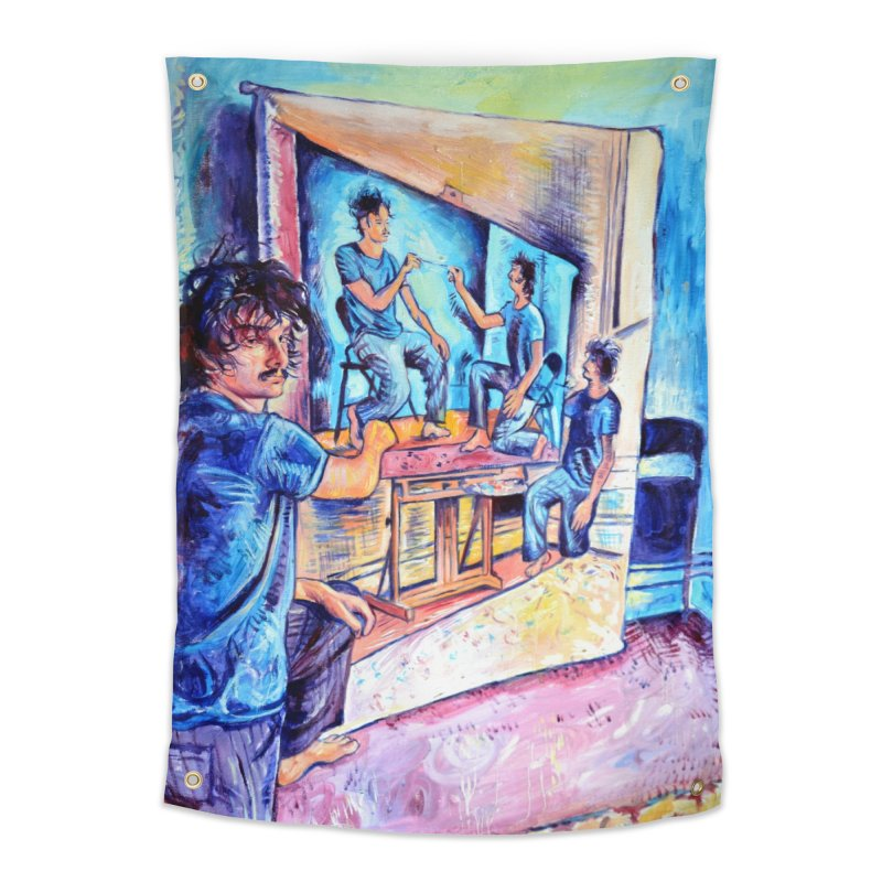 """selfportraitception Home Tapestry by Art Prints by Seamus Wray available under """"Home"""""""
