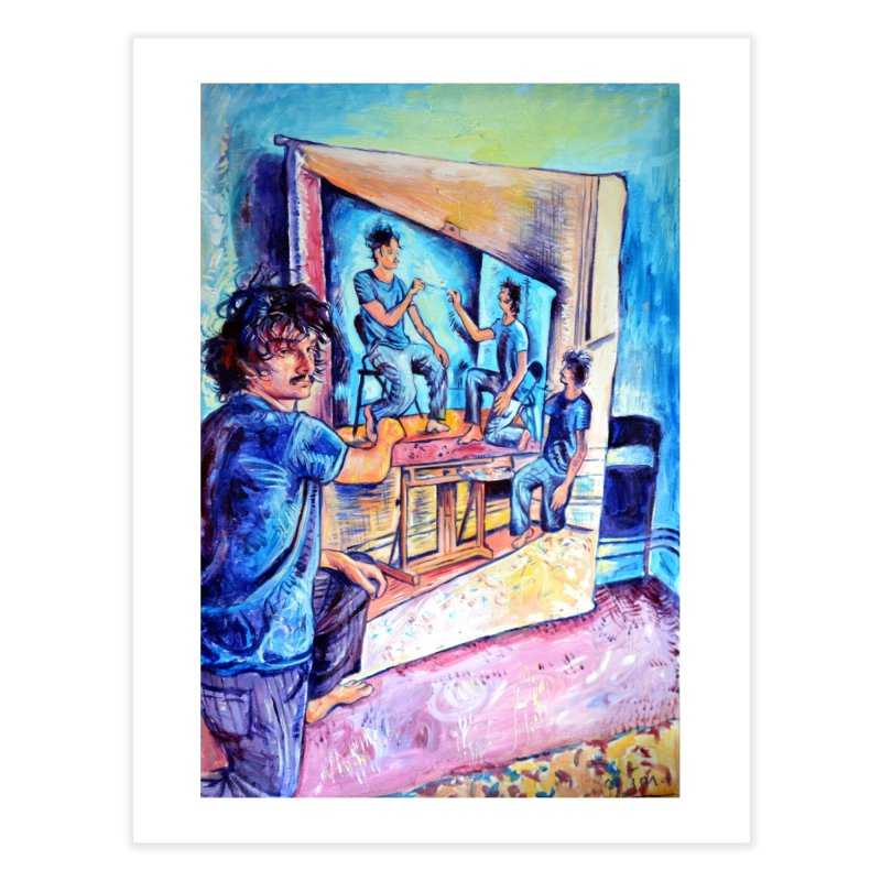"""selfportraitception Home Fine Art Print by Art Prints by Seamus Wray available under """"Home"""""""