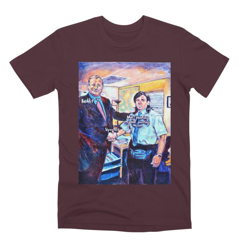 """painting myself meme Men's T-Shirt by Art Prints by Seamus Wray available under """"Home"""""""
