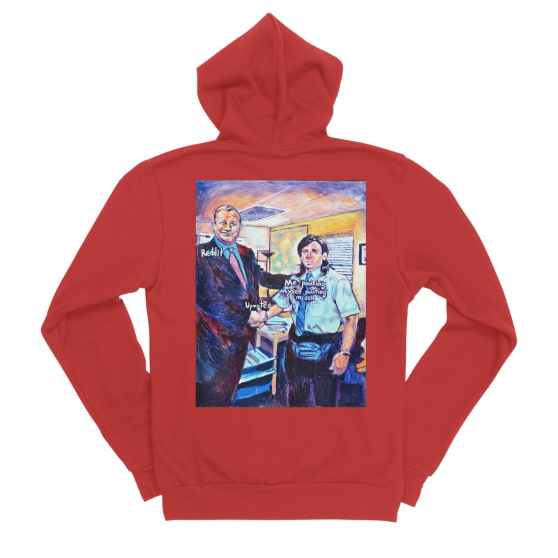 """painting myself meme Women's Zip-Up Hoody by Art Prints by Seamus Wray available under """"Home"""""""