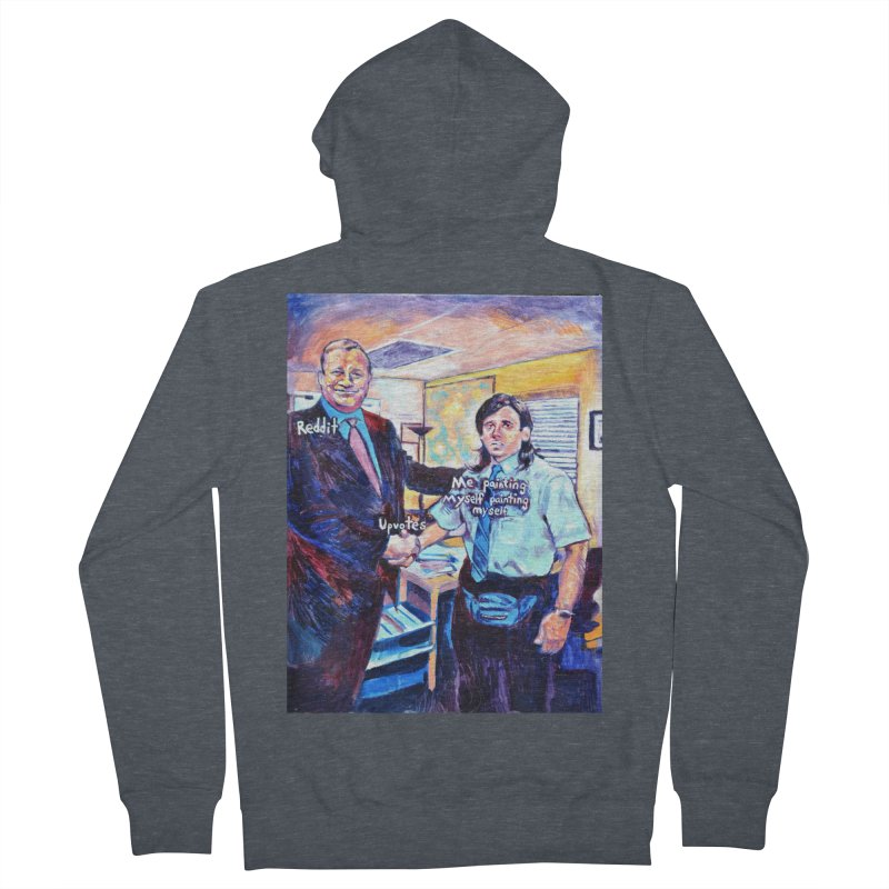 """painting myself meme Men's Zip-Up Hoody by Art Prints by Seamus Wray available under """"Home"""""""