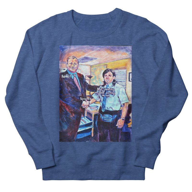 """painting myself meme Men's Sweatshirt by Art Prints by Seamus Wray available under """"Home"""""""