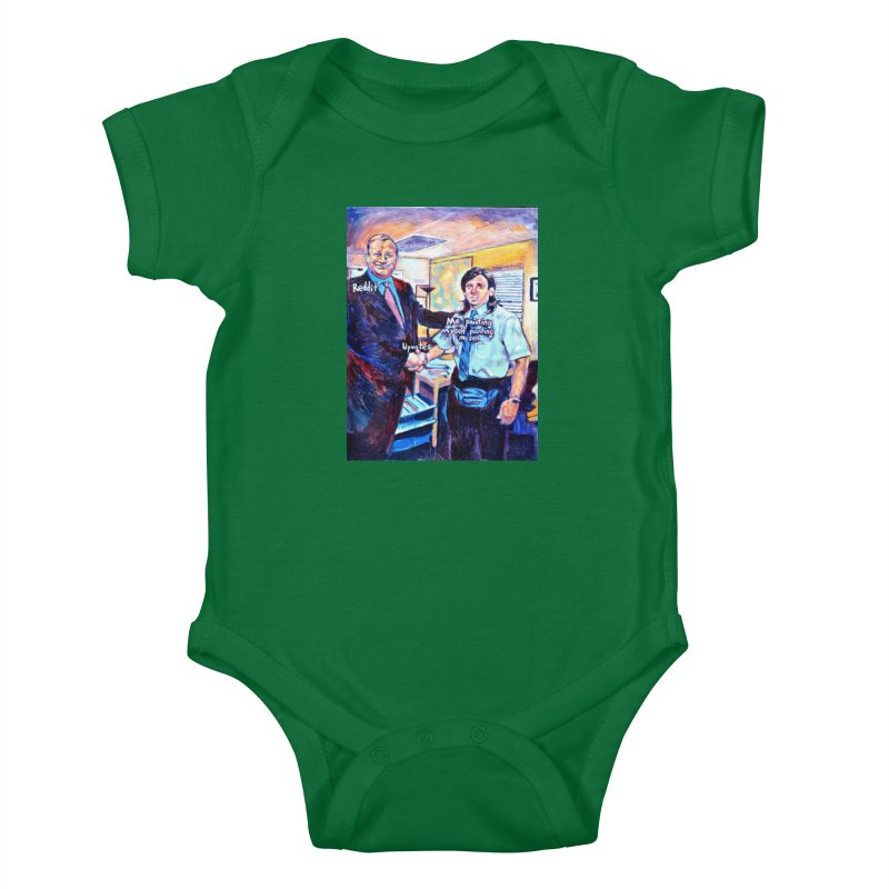 """painting myself meme Kids Baby Bodysuit by Art Prints by Seamus Wray available under """"Home"""""""