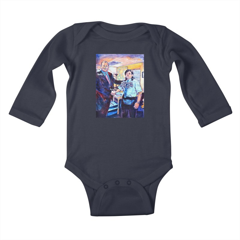 """painting myself meme Kids Baby Longsleeve Bodysuit by Art Prints by Seamus Wray available under """"Home"""""""