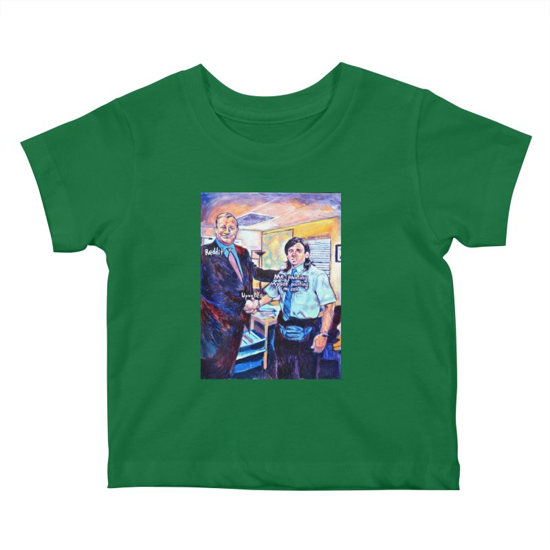 """painting myself meme Kids Baby T-Shirt by Art Prints by Seamus Wray available under """"Home"""""""