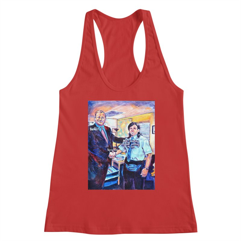 """painting myself meme Women's Tank by Art Prints by Seamus Wray available under """"Home"""""""