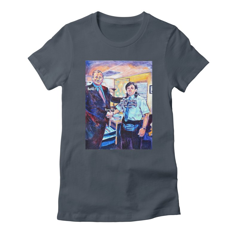 """painting myself meme Women's T-Shirt by Art Prints by Seamus Wray available under """"Home"""""""