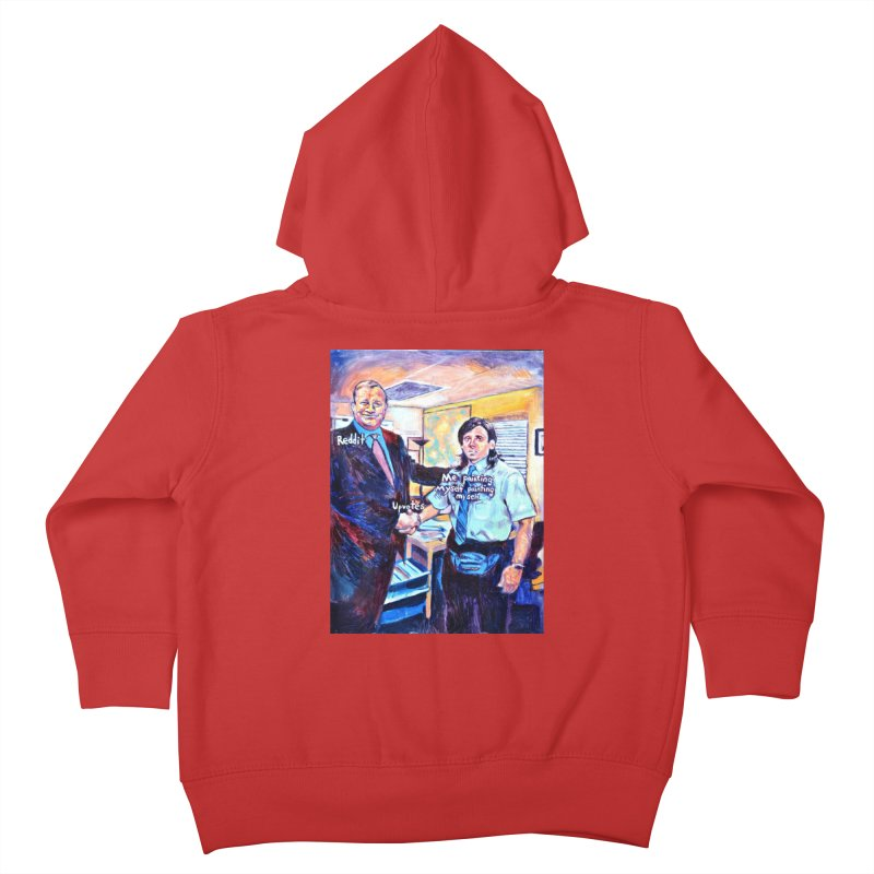 """painting myself meme Kids Toddler Zip-Up Hoody by Art Prints by Seamus Wray available under """"Home"""""""