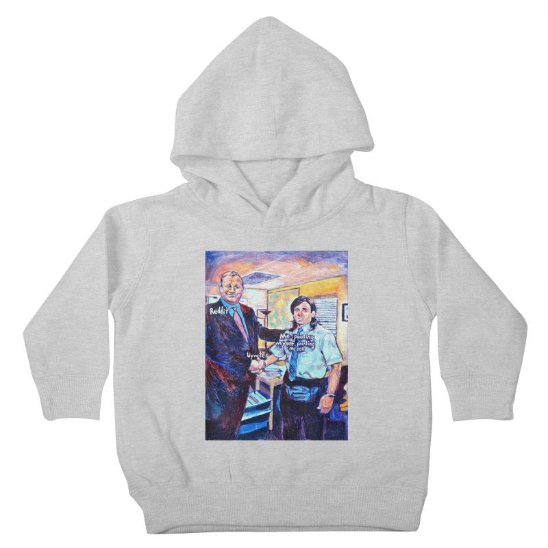 """painting myself meme Kids Toddler Pullover Hoody by Art Prints by Seamus Wray available under """"Home"""""""