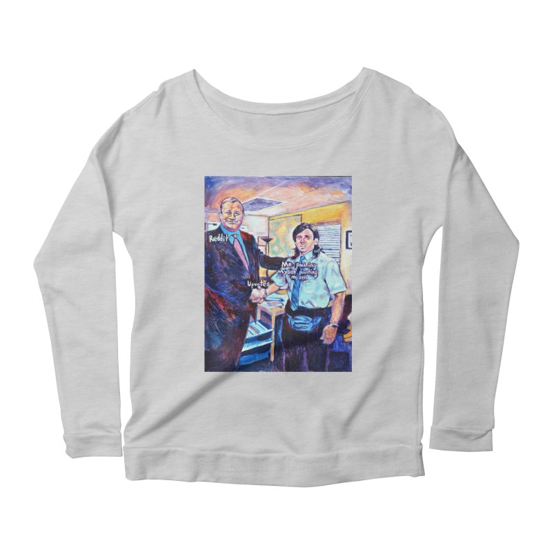 """painting myself meme Women's Longsleeve T-Shirt by Art Prints by Seamus Wray available under """"Home"""""""