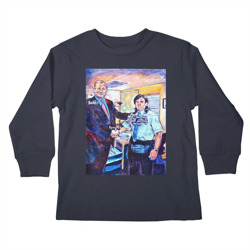 """painting myself meme Kids Longsleeve T-Shirt by Art Prints by Seamus Wray available under """"Home"""""""