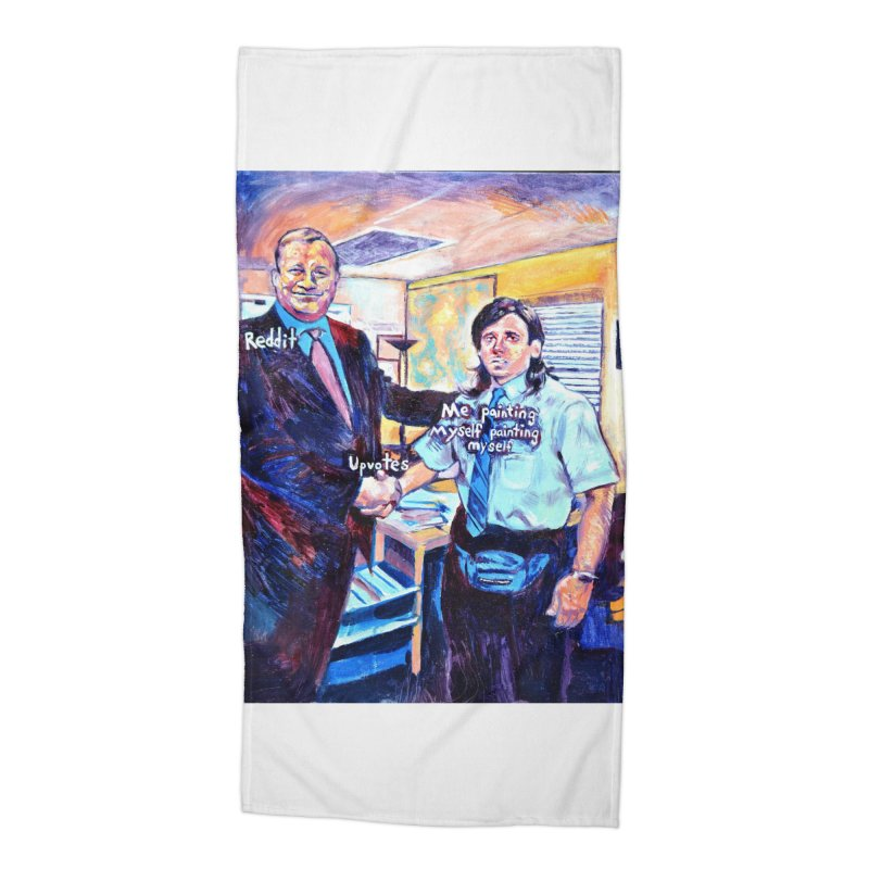 """painting myself meme Accessories Beach Towel by Art Prints by Seamus Wray available under """"Home"""""""
