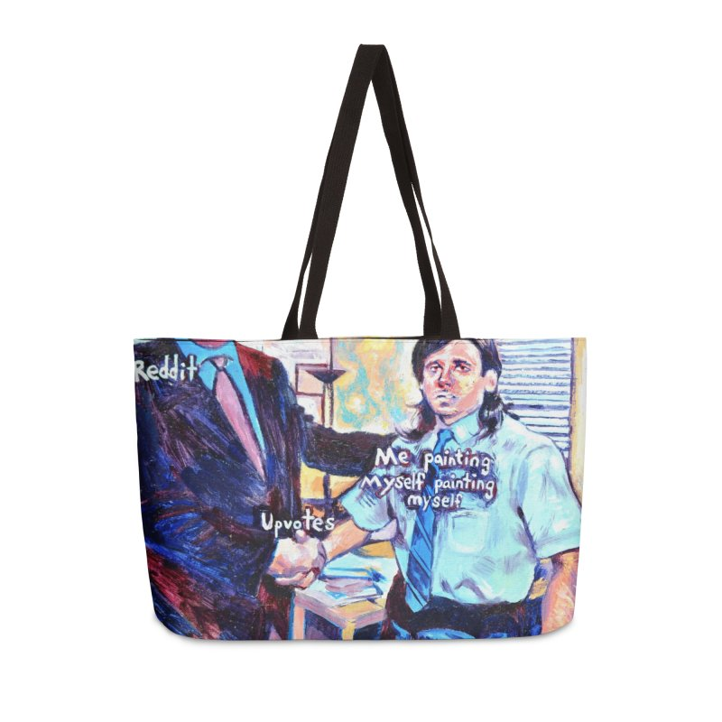 """painting myself meme Accessories Bag by Art Prints by Seamus Wray available under """"Home"""""""