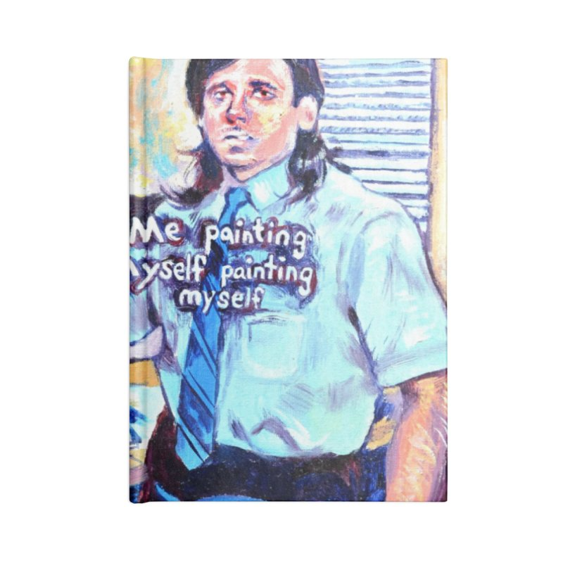 """painting myself meme Accessories Notebook by Art Prints by Seamus Wray available under """"Home"""""""