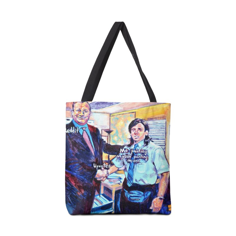 """painting myself meme Accessories Bag by Art Prints by Seama available under """"Home"""""""