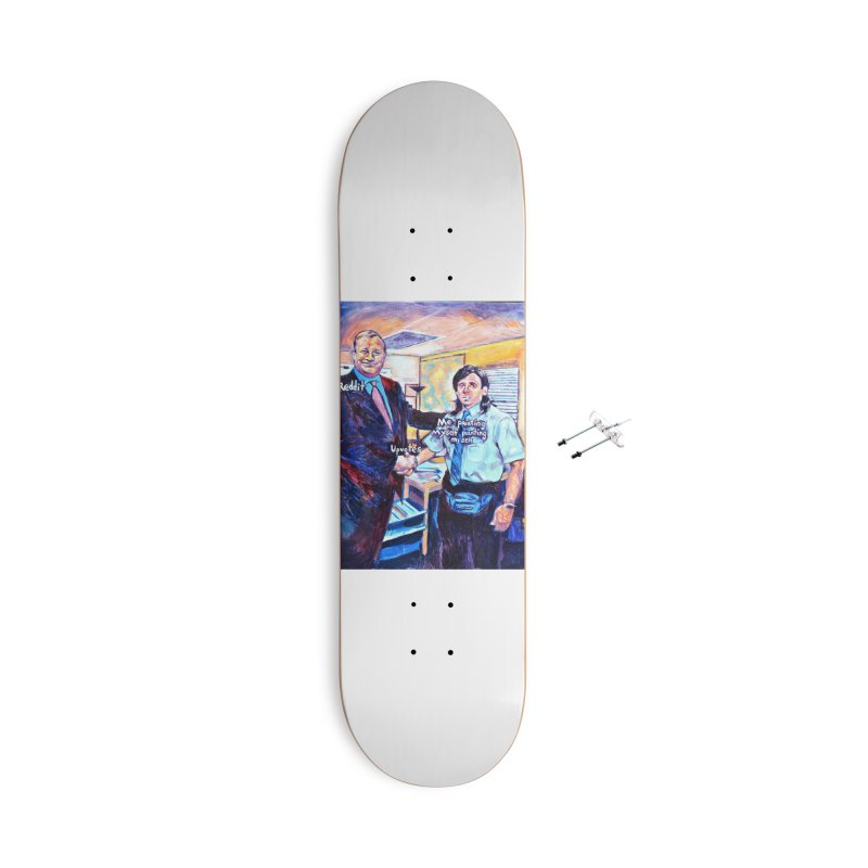 """painting myself meme Accessories Skateboard by Art Prints by Seamus Wray available under """"Home"""""""
