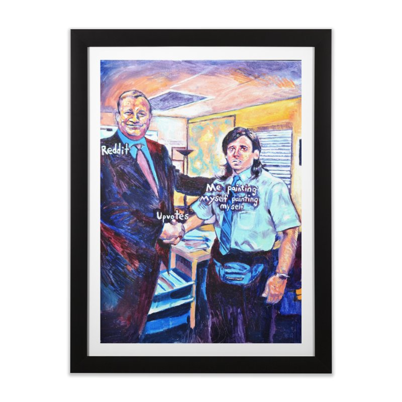 """painting myself meme Home Framed Fine Art Print by Art Prints by Seamus Wray available under """"Home"""""""