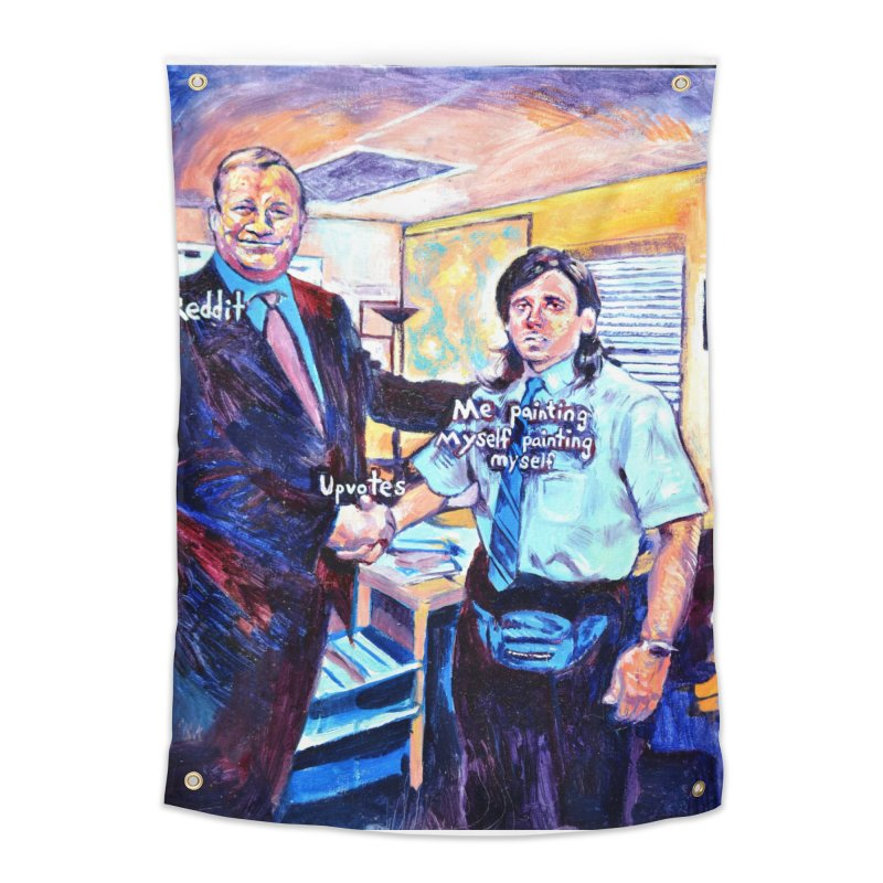 """painting myself meme Home Tapestry by Art Prints by Seamus Wray available under """"Home"""""""