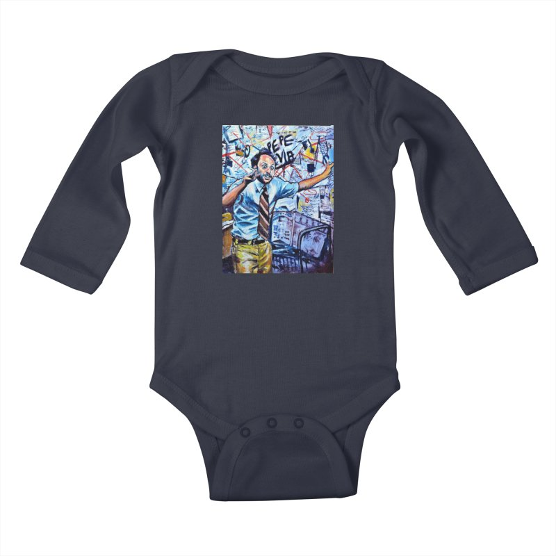 """boxes Kids Baby Longsleeve Bodysuit by Art Prints by Seamus Wray available under """"Home"""""""