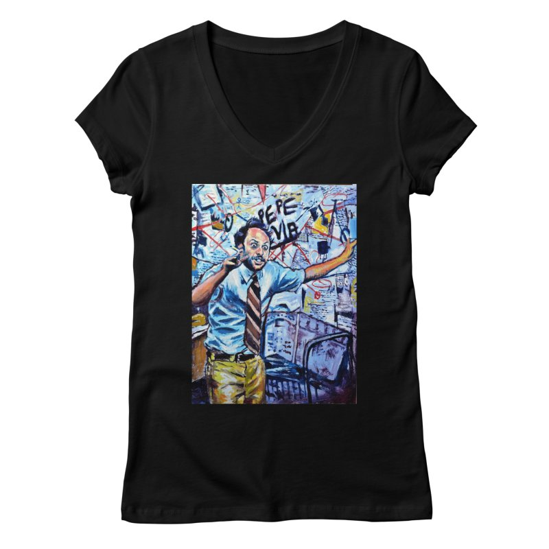"""boxes Women's V-Neck by Art Prints by Seamus Wray available under """"Home"""""""