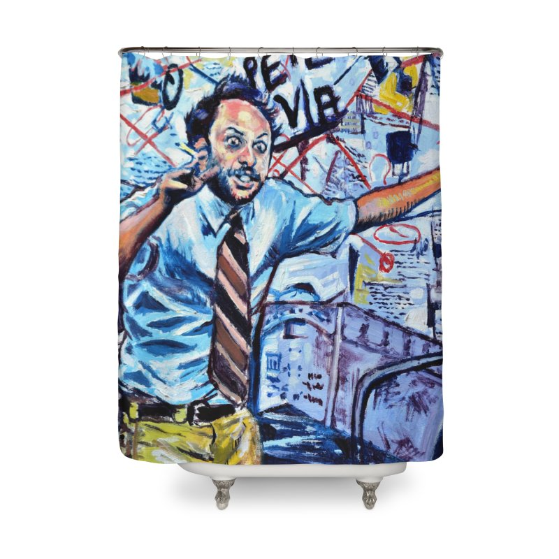 """boxes Home Shower Curtain by Art Prints by Seamus Wray available under """"Home"""""""
