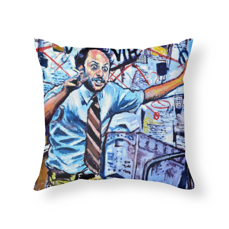 """boxes Home Throw Pillow by Art Prints by Seamus Wray available under """"Home"""""""
