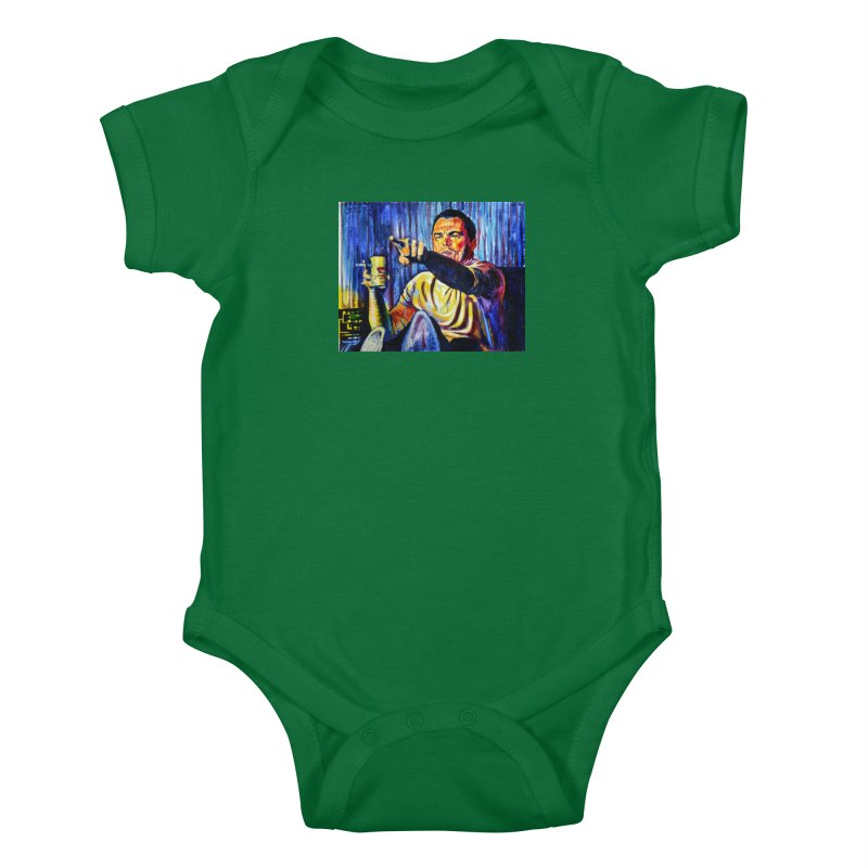 """pointing Kids Baby Bodysuit by Art Prints by Seamus Wray available under """"Home"""""""