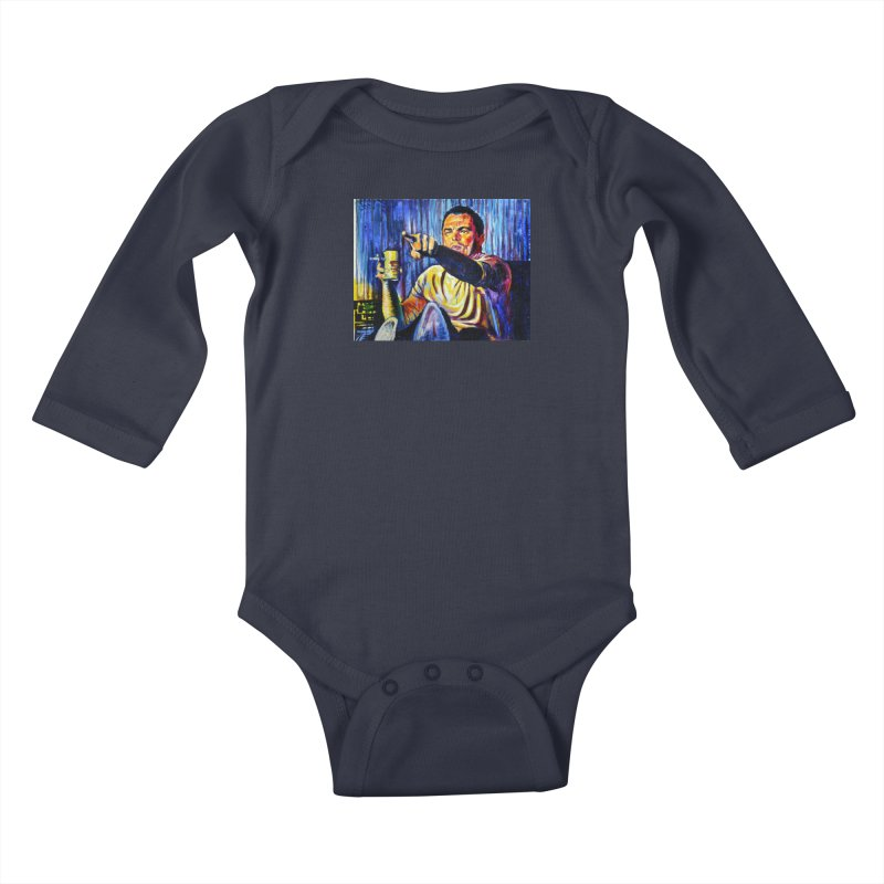 """pointing Kids Baby Longsleeve Bodysuit by Art Prints by Seamus Wray available under """"Home"""""""