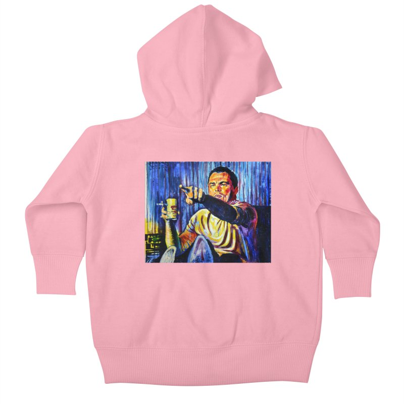"""pointing Kids Baby Zip-Up Hoody by Art Prints by Seamus Wray available under """"Home"""""""