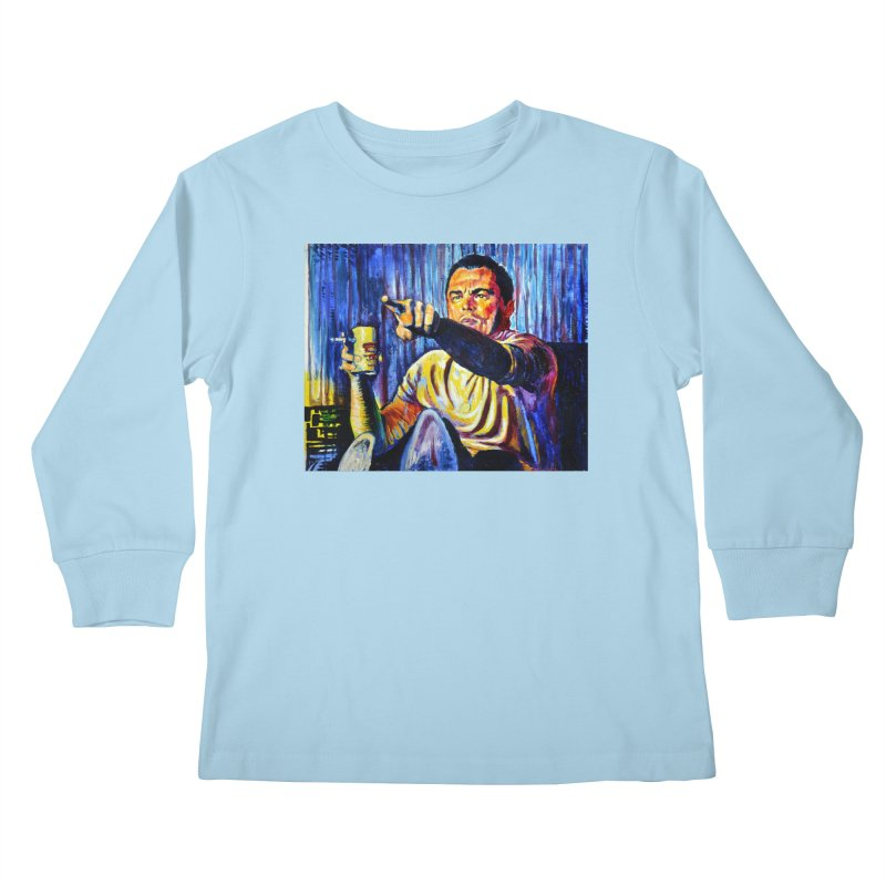 """pointing Kids Longsleeve T-Shirt by Art Prints by Seamus Wray available under """"Home"""""""
