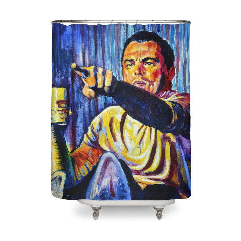 """pointing Home Shower Curtain by Art Prints by Seamus Wray available under """"Home"""""""