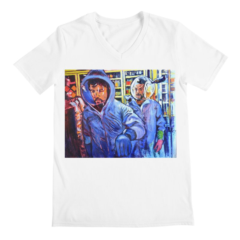 """breach Men's V-Neck by Art Prints by Seamus Wray available under """"Home"""""""
